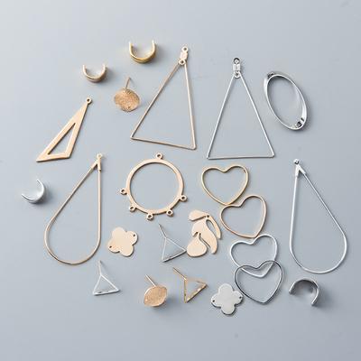 极简几何耳钉diy手工制作首饰自制材料包珍珠耳环耳夹耳饰品配件