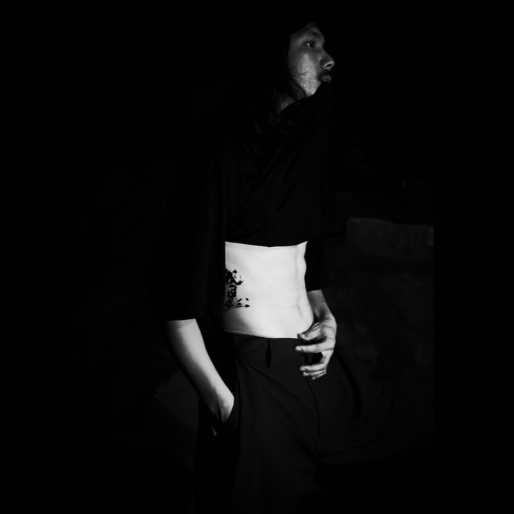 配饰【无限不循环】原创设计男装X黑凹书法合作纹身贴纸【自言】