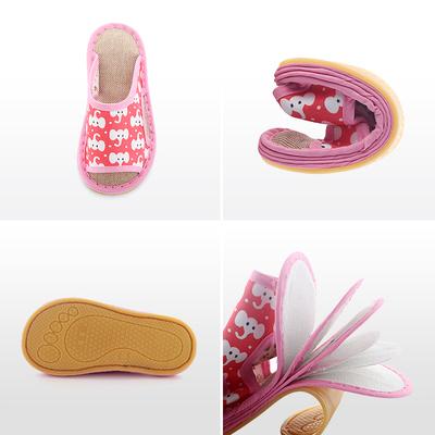宝宝亚麻拖鞋布夏天男童女童室内婴幼儿童防滑吸汗家居手工小孩