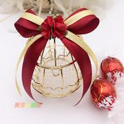 欧式创意婚庆用品个性浪漫铁艺鸟笼喜糖盒子马口铁结婚喜糖盒