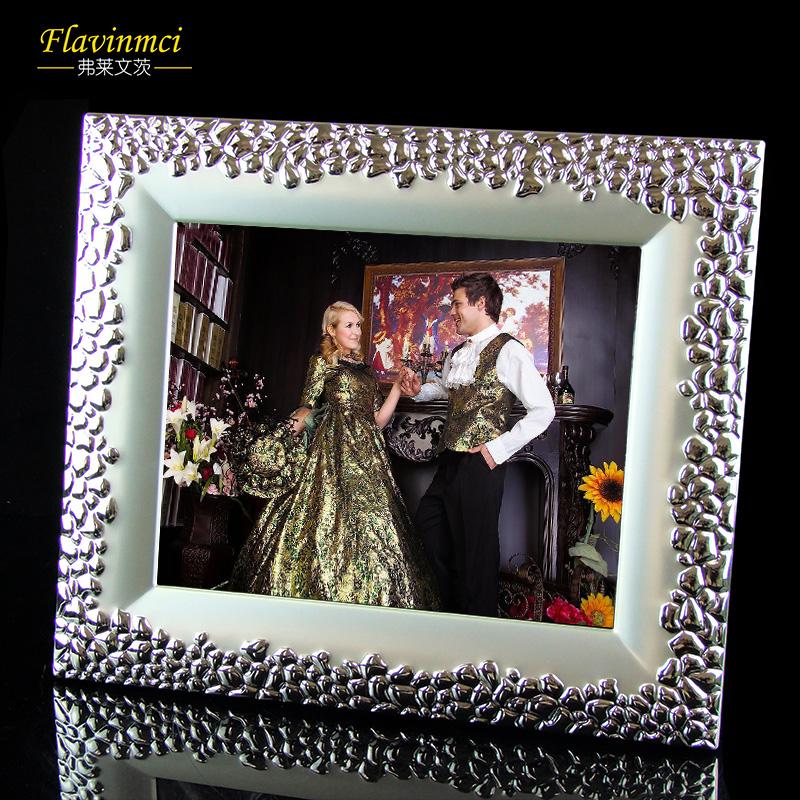 弗莱文次创意加宽金属欧式现代简约相架礼品家居相框10寸相框