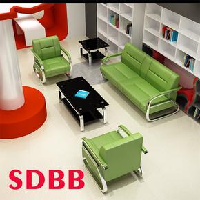 办公沙发简约接待商务三人位沙发 办公室沙发茶几组合