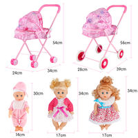 Children's toy girl play house cart with doll girl baby shopping cart baby small simulation trolley