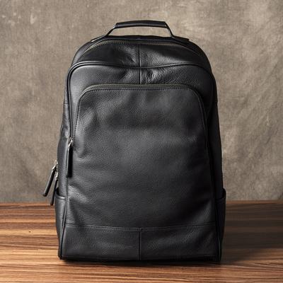 古造真皮男士双肩包头层牛皮旅行背包时尚潮流书包韩版商务电脑包