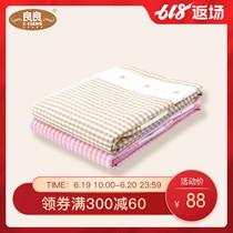 良良棉麻多功能宝宝床垫加大号隔尿垫床单婴儿床垫成人月经垫护理