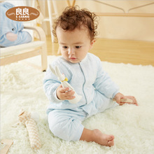 3岁男女宝宝春秋爬服哈衣 良良婴儿连体衣棉质新生儿保暖内衣0