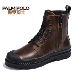 保罗骑士英伦男靴真皮复古男士马丁靴冬季加绒保暖皮靴男潮靴军靴