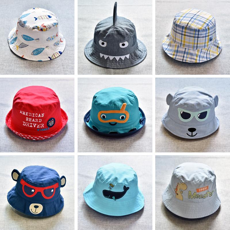 宝宝双面盆帽