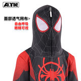 Spider-Man parallel universe sweater small black spider coat Miles with the same paragraph Gwen hooded children's suit tide spring and autumn
