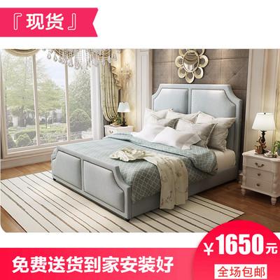 高箱储物床布艺床1.5m1米8布床简约现代北欧双人网红婚床主卧现货