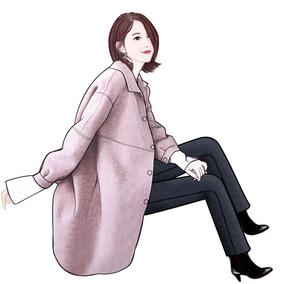 毛呢外套女中长款韩版2018新款流行大衣女冬季人字纹羊绒双面呢子