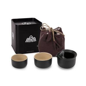 万仟堂陶瓷快客杯一壶二杯功夫茶具茶杯带布包 便携泡茶器 好兄弟