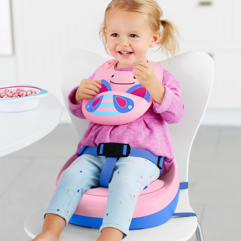 Skip Hop婴儿童柔软舒适便携式餐椅增高垫 动物卡通12M+