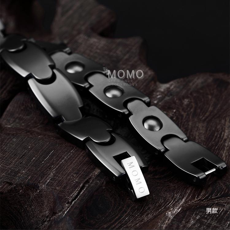 日本MOMO正品负离子防辐射手链保健男手链女手环运动情侣手链磁疗