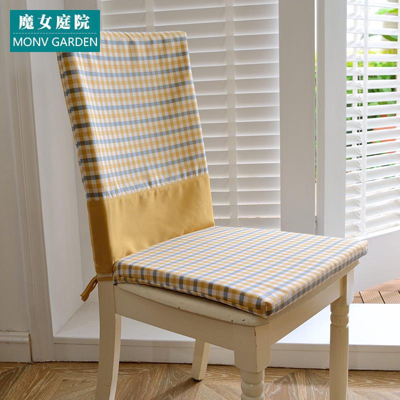 田园纯色餐椅套