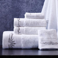 Hotel thickening to increase the towel towel cotton white adult soft cotton towel wash scarf 3 piece towel