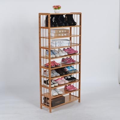 特价包邮楠竹简易八十层平板鞋架置物架储物架10多层竹鞋架防尘