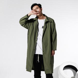 BTW街头品牌 OVERSIZE新款宽松外套男原创潮牌纯色防水嘻哈风衣