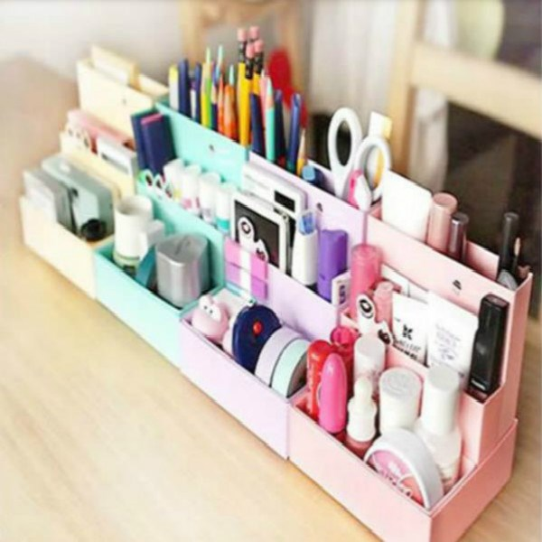 Foldable Mini DIY Paper Board Storage Desk Decor Stationer