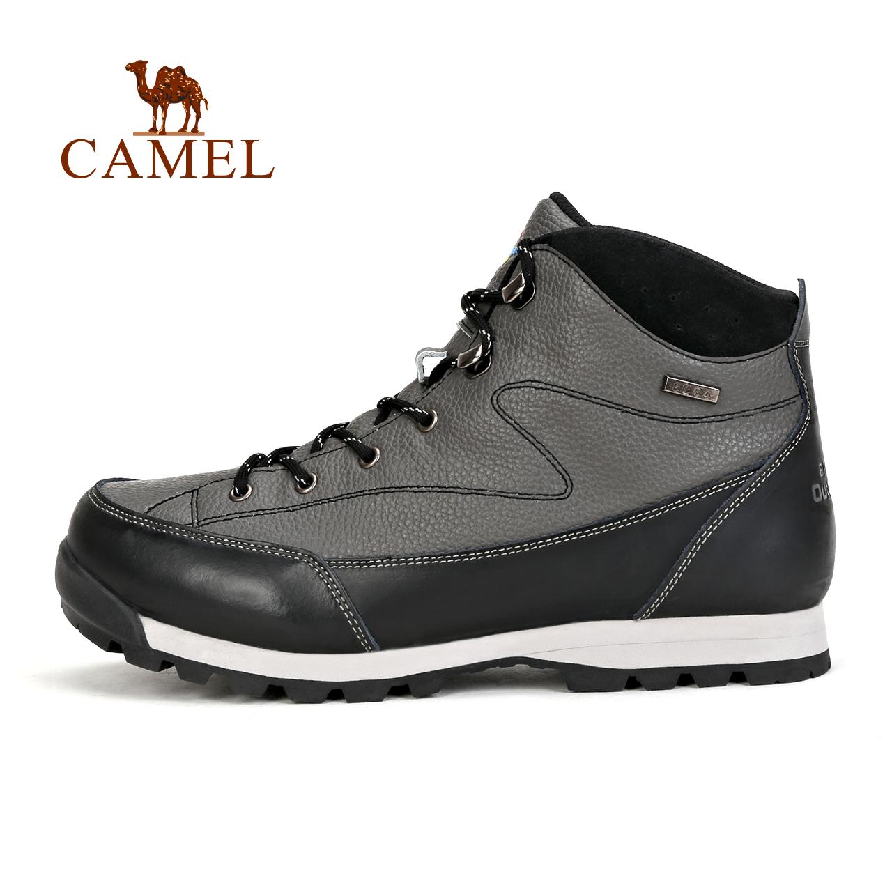 骆驼&8264登山队系列 户外高帮秋冬季防滑耐磨减震透气牛皮登山鞋