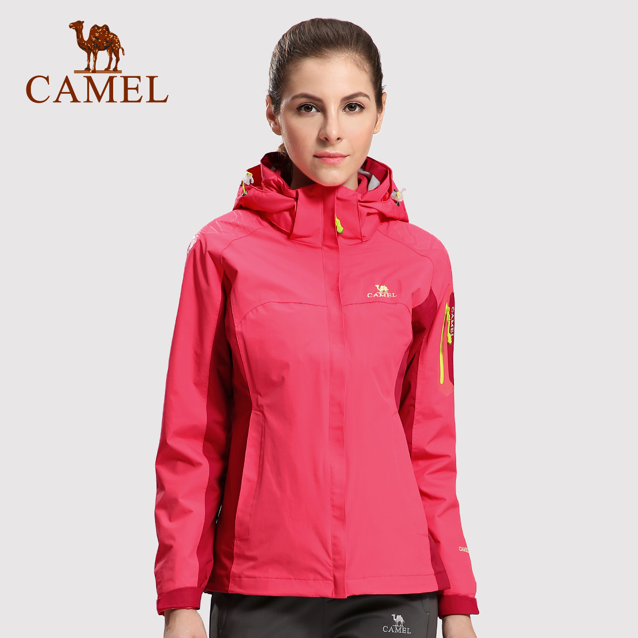 CAMEL骆驼户外冲锋衣 三合一 两件套加绒加厚登山服男女户外服冬