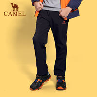 CAMEL/Camel children's soft shell pants Large children's fleece inner and outer pants Windproof waterproof hiking pants