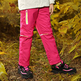 Autumn boy's and girl's mountaineering pants large boy's windproof and warm outdoor children's emergency pants