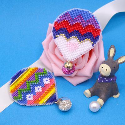 小幅DMC十字绣套件冰箱贴热气球款手工材料包含珠子吊坠等配件