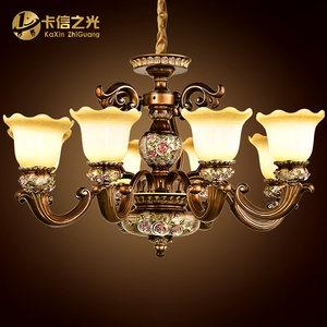 卡信之光 欧式吊灯复古 客厅灯 新古典奢华艺术大气餐厅卧室灯具