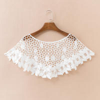 Summer hollow knit blouse small shawl lace short outside short jacket thin section head wild small vest woman