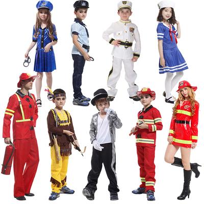 万圣节男童服装万圣节儿童服装海军消防员歌星猎手警察cos服装