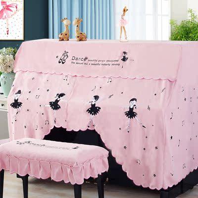 钢琴罩欧式半罩现代简约雅马哈儿童加厚钢琴琴凳罩防尘全罩盖布