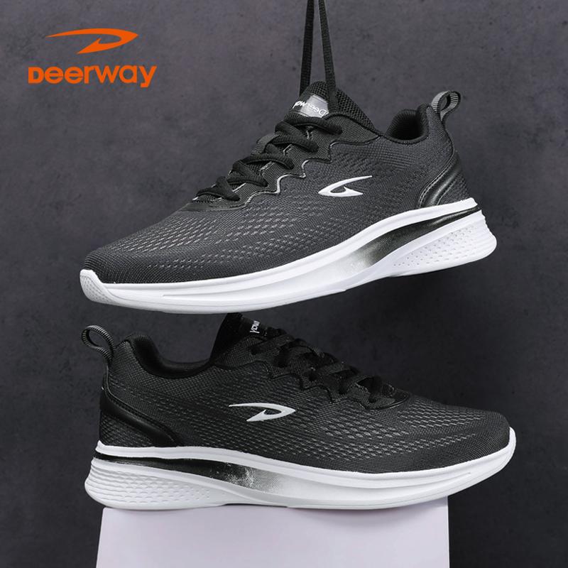德尔惠男鞋跑步鞋冬季新款男士休闲运动鞋透气网面鞋轻便旅游鞋男
