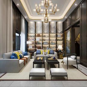 新中式沙发 实木沙发组合布艺沙发禅意客厅中式家具酒店工程定制