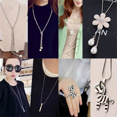 Simple necklace sweater chain long paragraph wild autumn and winter Korean personality 2017 decorative clothes accessories female pendant jewelry