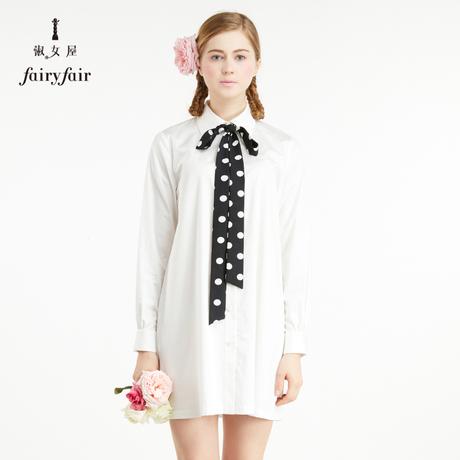 淑女屋早秋上衣ins超火的白衬衫女新款学生韩范秋款衬衣裙商品大图
