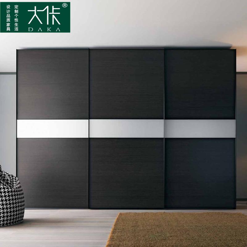 大佧设计北欧现代 钢琴烤漆 移门衣柜推拉门整体衣柜全屋定制