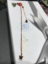 香港專櫃正品代購agnes b.可愛小熊logo水鑽合金女款項鏈 16新款