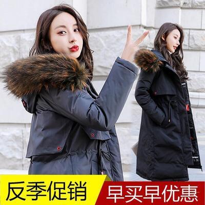 棉服2018新款韩版加厚冬装中长款羽绒棉衣两面穿棉袄冬天外套冬女