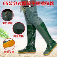 Men's and women's knee-high bucket underwater pants, rain boots, waterproof boots, transplanting shoes, fishing shoes and working boots