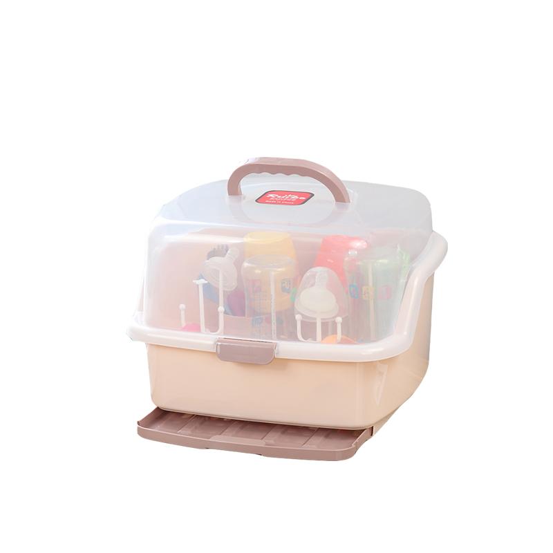 宝宝奶瓶收纳箱抗菌婴儿除菌防尘大号便携式收纳餐具奶瓶的盒子
