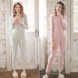 Yourban moon clothing spring and autumn pregnant women autumn clothes autumn pants lactating pajamas big size maternal post-natal home wear set