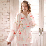 Yourban month child service spring and autumn maternal postpartum breastfeeding pajamas autumn and winter pregnant women kimono models home service suit