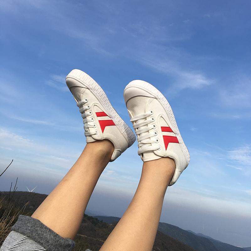 双 明星新宠 得捂 白色小白帆布鞋 好穿女鞋