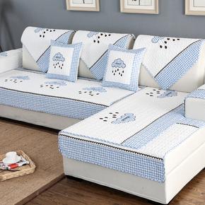 沙发垫布艺简约现代四季通用坐垫纯棉夏季客厅欧式防滑沙发套巾罩