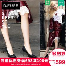 D:Fuse/迪芙斯年秋季新款尖头浅口高跟鞋女细跟DF83111722图片