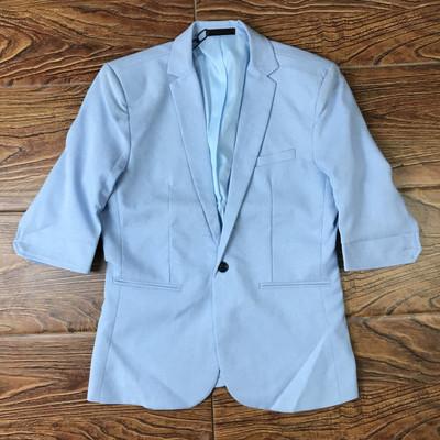 春夏七分袖西装男士休闲半袖小西服韩版短袖夏装潮流中袖单西外套