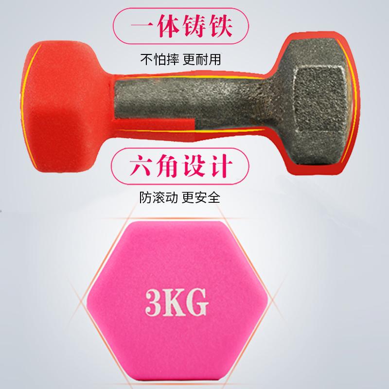 哑铃女士瘦手臂健身家用减肥运动女式一公斤一对女生儿童男小亚铃