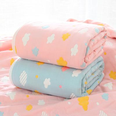 纯棉六层纱布蘑菇小毯子儿童毛毯宝宝毛巾被子春夏新生儿婴儿浴巾