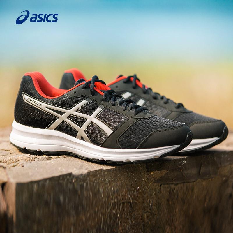 ASICS亚瑟士缓冲跑步鞋男鞋学生缓震网面慢跑鞋运动鞋T619N-9091